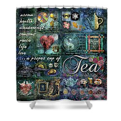 Tea Shower Curtain