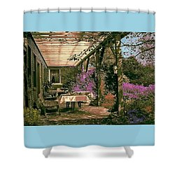 Tea Garden Shower Curtain by John Selmer Sr