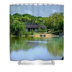 Tea House Shower Curtain by Louis Ferreira