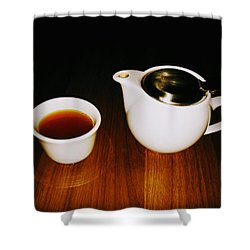 Tea-juana Shower Curtain by Albab Ahmed