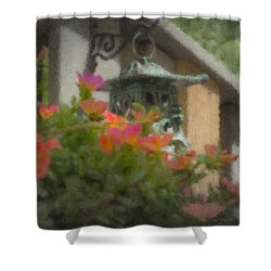 Tea Lantern And Portulaca Shower Curtain