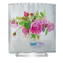 Tea Rose Shower Curtain by Beatrice Cloake