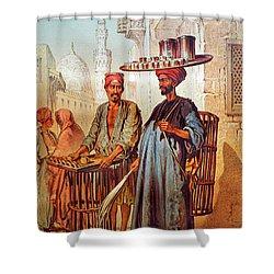 Shower Curtain featuring the photograph Tea Seller by Munir Alawi