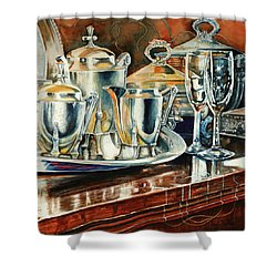 Tea With Marguerite Shower Curtain by Carolyn Coffey Wallace