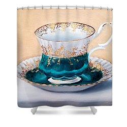 Teacup Shower Curtain