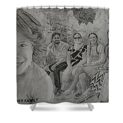 Teagan And Her Family Shower Curtain