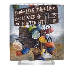 Teakettle Junction Shower Curtain by Karen Fleschler
