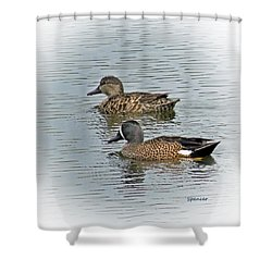 Teal Time Shower Curtain