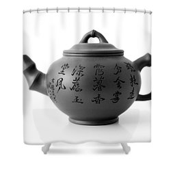 Teapot Shower Curtain by Gina Dsgn