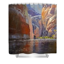 Teapot Point Colorado River Shower Curtain