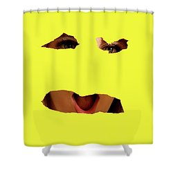 Tear Out Shower Curtain