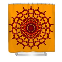 Teardrop Fractal Mandala Shower Curtain
