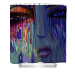 Tearful  Dream Shower Curtain