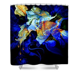 Shower Curtain featuring the painting Tears In My Garden by Hanne Lore Koehler