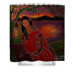 Tears Of Tamasa Shower Curtain by Latha Gokuldas Panicker