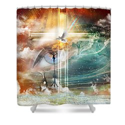 Tears To Triumph Shower Curtain by Dolores Develde