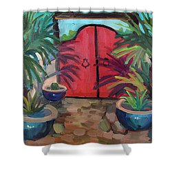 Shower Curtain featuring the painting Tecate Garden Gate by Diane McClary