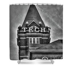 Tech B W Georgia Institute Of Technology Atlanta Georgia Art Shower Curtain