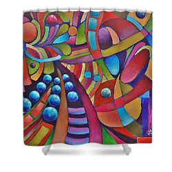 Technicolor Bloom Shower Curtain by Jason Williamson