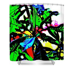Technicolor Jungle Shower Curtain