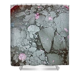 Tectonic With Sky Above And Below Shower Curtain