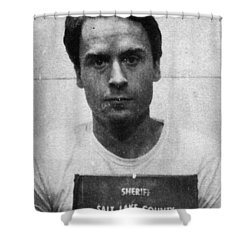 Ted Bundy Mug Shot 1975 Vertical  Shower Curtain