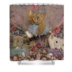 Teddy Bear Dancers Shower Curtain