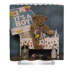 Teddy Bear - Its A Boy Shower Curtain