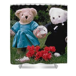 Teddy Bear Lovers Shower Curtain