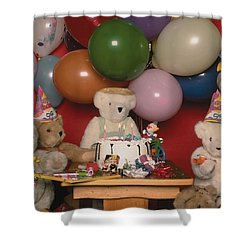 Teddy Bear Party Shower Curtain