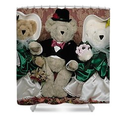 Teddy Bear Wedding Shower Curtain
