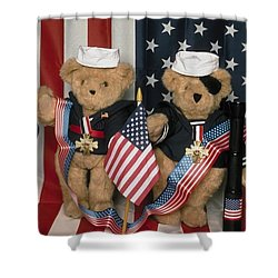 Teddy Bears In America Shower Curtain