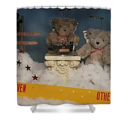 Teddy Bears In Heaven Shower Curtain