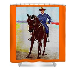 Teddy R Shower Curtain