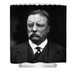 Teddy Roosevelt Shower Curtain by War Is Hell Store