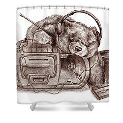 Teenage Bear Shower Curtain