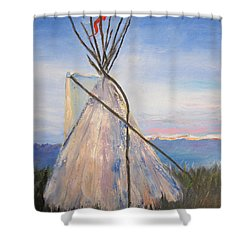 Teepee Dawn Shower Curtain