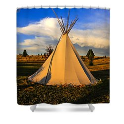 Teepee In Montana Shower Curtain