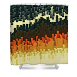 Shower Curtain featuring the digital art Teeth 030517 by Matt Lindley