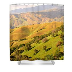 Tehachapi Topography Shower Curtain