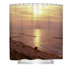 Tel Aviv Beach Morning Shower Curtain by Gail Kent
