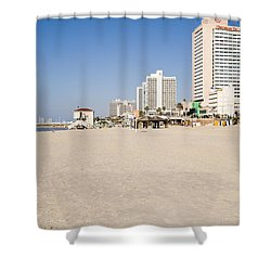 Tel Aviv Coastline Shower Curtain by Ilan Rosen