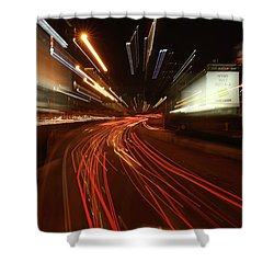 Tel Aviv Doom Shower Curtain by Shlomo Zangilevitch