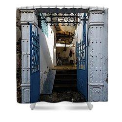 Tel Aviv Doorway Shower Curtain