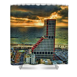 Shower Curtain featuring the photograph Tel Aviv Lego by Ron Shoshani