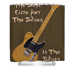 Tele Blues Cure Shower Curtain