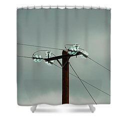 Telegraph Lines Shower Curtain