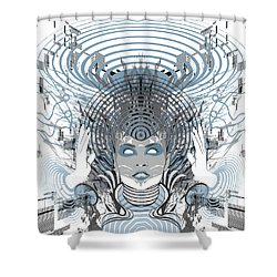 Telepathy Shower Curtain