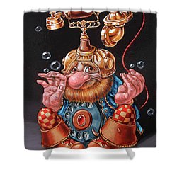 Telephonic Shower Curtain