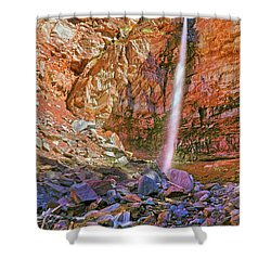 Telluride, Colorado's Cornet Falls - Colorful Colorado - Waterfall Shower Curtain by Jason Politte